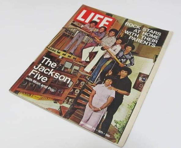 ジャクソン・ファイブ表紙 ライフ誌 マイケル・ジャクソン LIFE 1971年9月24日号