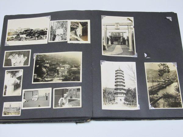 日本兵 傷痍軍人 看護婦 中国風景 上海神社 古写真