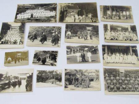 台湾神社 戦前古写真買取 台湾全島神職会 傷病兵 浦安舞 長谷川台湾総督閣下